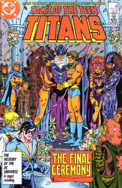 Cover for Tales of the Teen Titans (DC, 1984 series) #76 [Newsstand Edition]