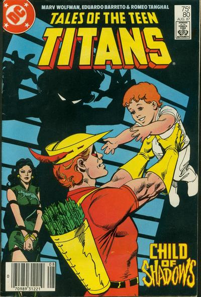 Cover for Tales of the Teen Titans (DC, 1984 series) #80 [Newsstand]
