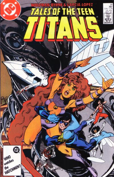 Cover for Tales of the Teen Titans (DC, 1984 series) #81 [Newsstand Edition]