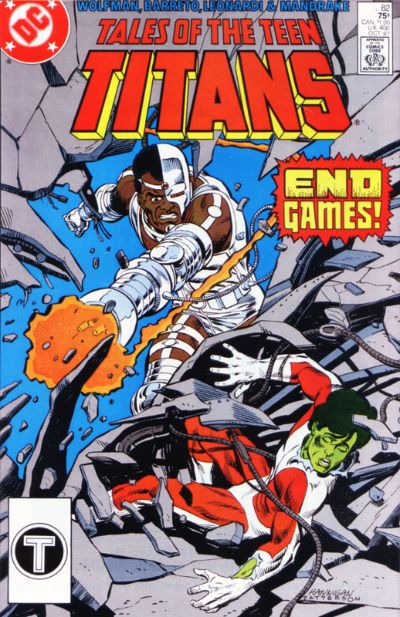 Cover for Tales of the Teen Titans (DC, 1984 series) #82 [Newsstand]