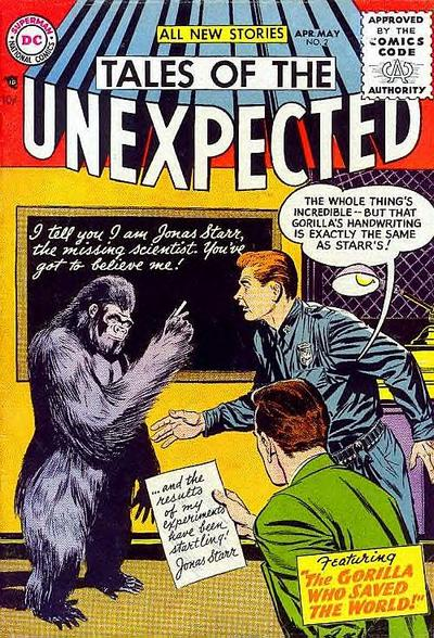 Cover for Tales of the Unexpected (DC, 1956 series) #2