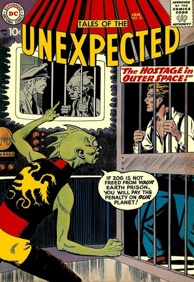 Cover for Tales of the Unexpected (DC, 1956 series) #21