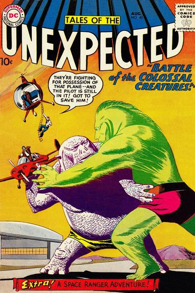 Cover for Tales of the Unexpected (DC, 1956 series) #40