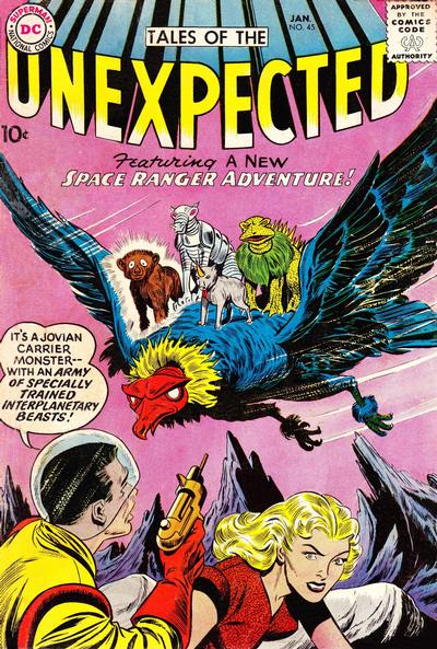 Cover for Tales of the Unexpected (DC, 1956 series) #45