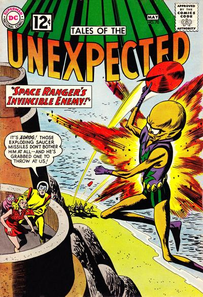 Cover for Tales of the Unexpected (DC, 1956 series) #70