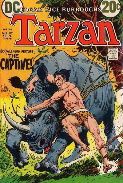 Cover for Tarzan (DC, 1972 series) #212