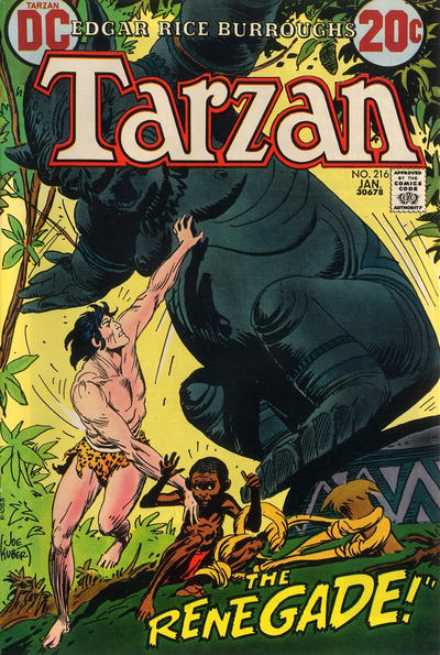 Cover for Tarzan (DC, 1972 series) #216