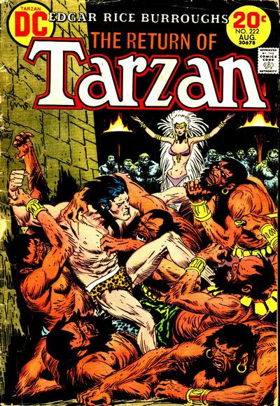 Cover for Tarzan (DC, 1972 series) #222