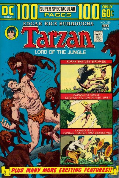 Cover for Tarzan (DC, 1972 series) #230