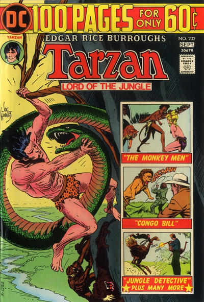 Cover for Tarzan (DC, 1972 series) #232