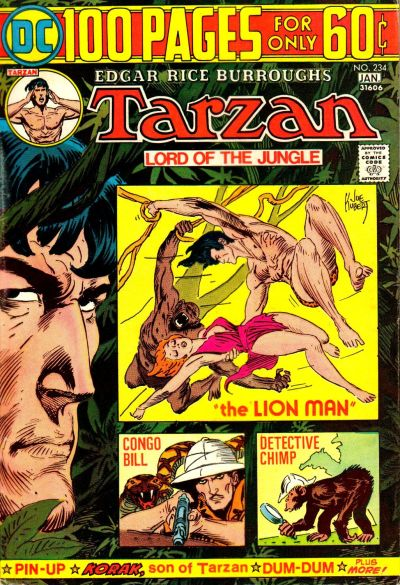 Cover for Tarzan (DC, 1972 series) #234