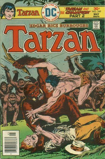 Cover for Tarzan (DC, 1972 series) #249