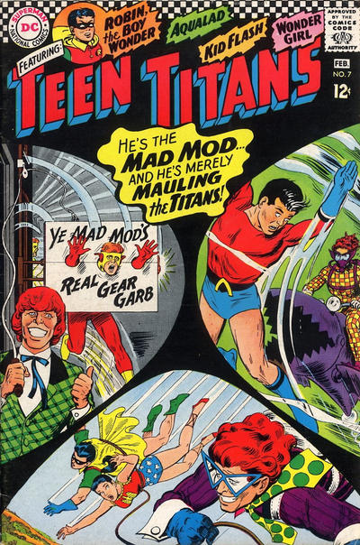 Cover for Teen Titans (DC, 1966 series) #7