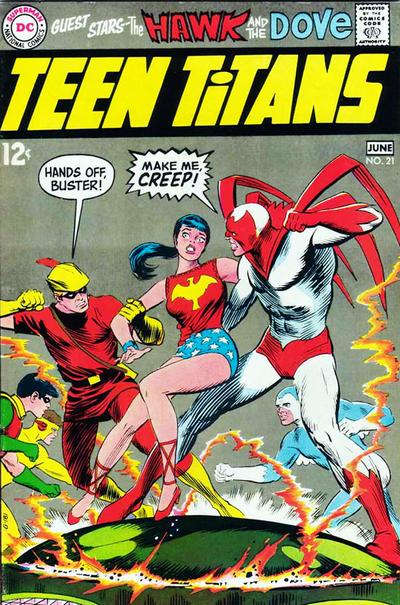 Cover for Teen Titans (DC, 1966 series) #21