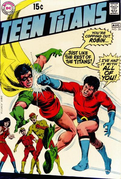 Cover for Teen Titans (DC, 1966 series) #28