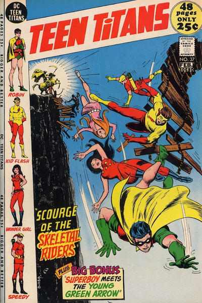Cover for Teen Titans (DC, 1966 series) #37