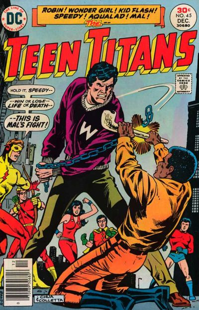 Cover for Teen Titans (DC, 1966 series) #45