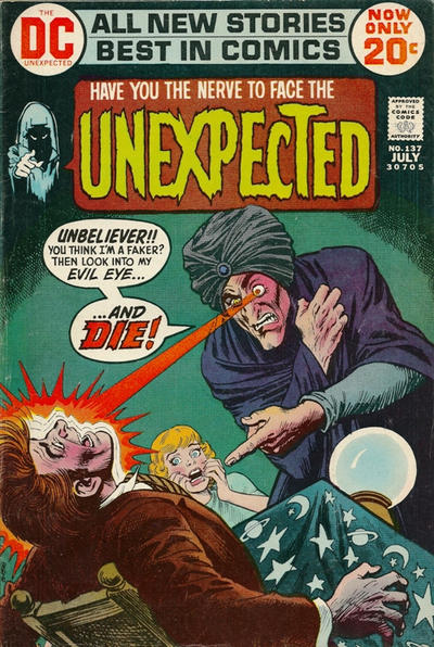 Cover for The Unexpected (DC, 1968 series) #137