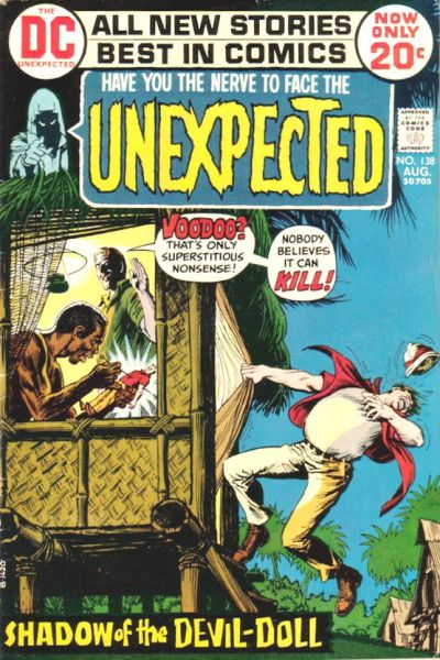 Cover for The Unexpected (DC, 1968 series) #138