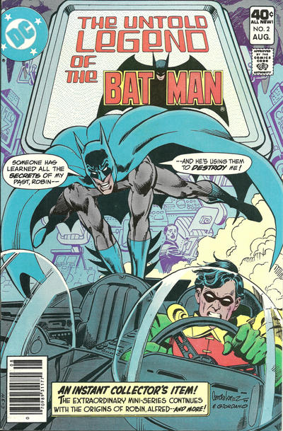 Cover for The Untold Legend of the Batman (DC, 1980 series) #2