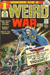 Cover for Weird War Tales (DC, 1971 series) #1