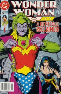 Cover Thumbnail for Wonder Woman (DC, 1987 series) #70 [Newsstand]