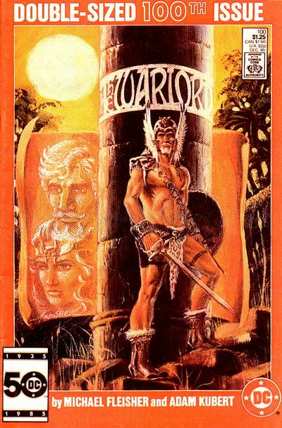 Cover for Warlord (DC, 1976 series) #100 [Newsstand Edition]