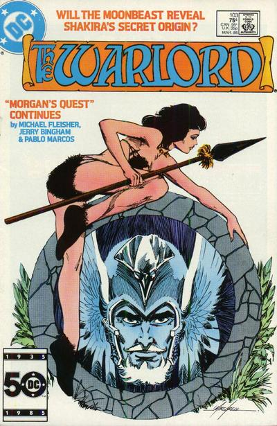 Cover for Warlord (DC, 1976 series) #103 [Direct Sales]
