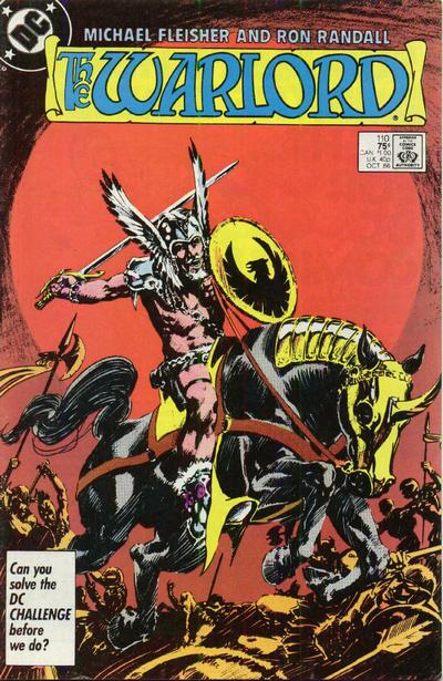 Cover for Warlord (DC, 1976 series) #110 [Direct Sales]