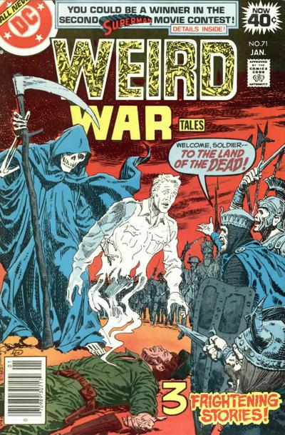 Cover for Weird War Tales (DC, 1971 series) #71