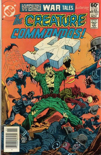 Cover for Weird War Tales (DC, 1971 series) #105 [Direct Sales]