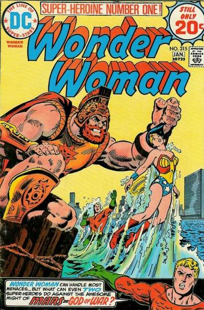 Cover for Wonder Woman (DC, 1942 series) #215