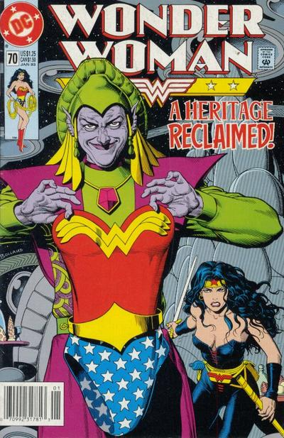 Cover for Wonder Woman (DC, 1987 series) #70 [Direct]