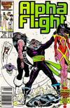 Cover Thumbnail for Alpha Flight (1983 series) #37 [Newsstand Edition]