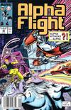 Cover for Alpha Flight (Marvel, 1983 series) #66