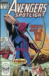 Cover for Avengers Spotlight (Marvel, 1989 series) #21 [Direct]
