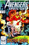 Cover for Avengers Spotlight (Marvel, 1989 series) #37