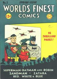 Cover Thumbnail for World's Finest Comics (DC, 1941 series) #5