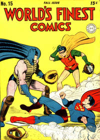Cover Thumbnail for World's Finest Comics (DC, 1941 series) #15