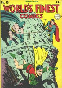 Cover Thumbnail for World's Finest Comics (DC, 1941 series) #16