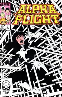 Cover Thumbnail for Alpha Flight (Marvel, 1983 series) #3 [Direct]