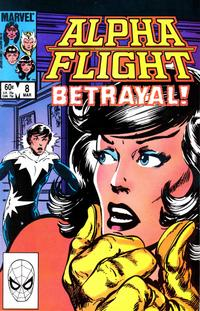 Cover Thumbnail for Alpha Flight (Marvel, 1983 series) #8 [Direct Edition]