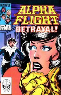 Cover Thumbnail for Alpha Flight (Marvel, 1983 series) #8 [Direct]