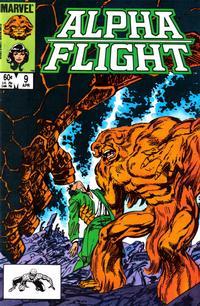 Cover Thumbnail for Alpha Flight (Marvel, 1983 series) #9 [Direct]