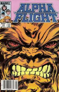 Cover Thumbnail for Alpha Flight (Marvel, 1983 series) #10 [Newsstand]