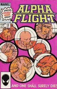 Cover Thumbnail for Alpha Flight (Marvel, 1983 series) #12 [Direct]