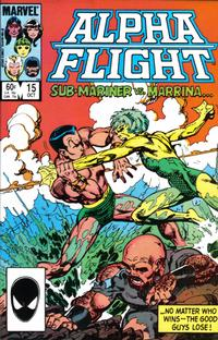 Cover Thumbnail for Alpha Flight (Marvel, 1983 series) #15 [Direct Edition]