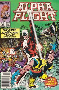 Cover Thumbnail for Alpha Flight (Marvel, 1983 series) #17 [Newsstand Edition]