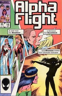 Cover for Alpha Flight (Marvel, 1983 series) #18 [Direct Edition]