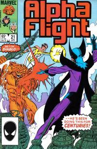 Cover Thumbnail for Alpha Flight (Marvel, 1983 series) #21 [Direct]
